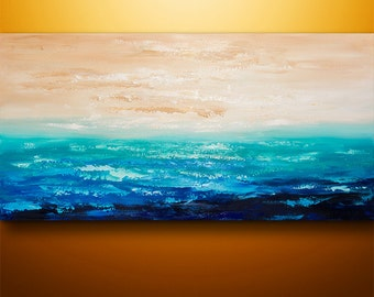 Abstract Painting, Acrylic painting, seascape painting, original painting, canvas art, Wall Art, palette knife art, abstract art by Catalin