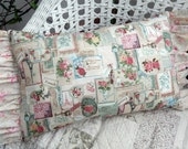 Everything French in this Shabby Chic Pillow with Roses French Letterings Postcards