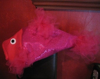 Hot Pink Beta Fish costume-one size fits all