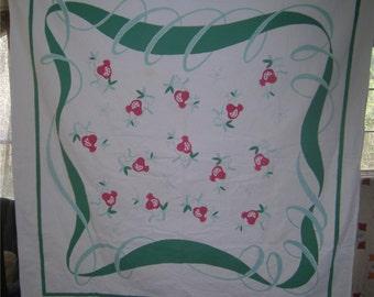 1950s Print Kitchen Table Cloth - Kumquats
