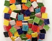 "Ceramic Mosaic Tiles - 3/4"" Square Mosaic Tiles - Multi Colored"