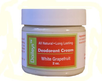 White Grapefruit - Deodorant Cream - All Natural Aluminum Free