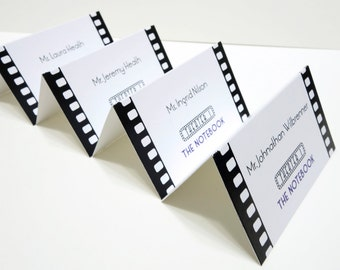 Movie Theme Wedding Seating Cards - Cinema Place Markers