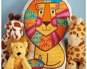 Colorful Lion - Cross Stitch Pattern