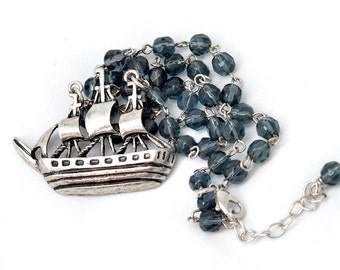 Cyber Monday Christmas Gift Nautical Ship Necklace