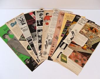 Vintage Paper Ephemera for Altered Art or Scrapbooking, Grab Bag