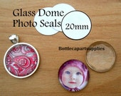20mm CLEAR Round Double Adhesive Easy INSTANT Sticker Seals for Glass Domes Photo Jewelry. Alternative to Resin and Glaze. 2 sided Stickers