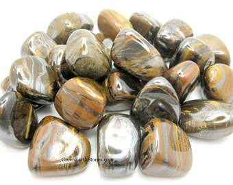 Tiger Iron Tumbled Stone, ONE  Large,  Meditation, Altar, Crystal Grids, Feng Shui, Reiki, Wicca,