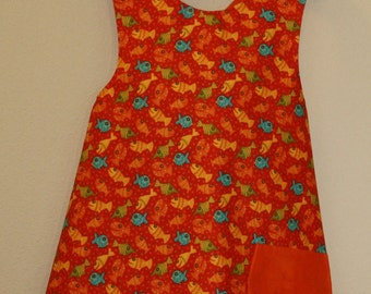 Bright Fishes Reversible Children's Apron