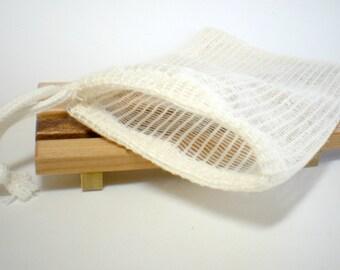 LAST ONE - Soap Saver,  Soap Sack, Soap Bag, Ramie Soap Bag, Washcloth Bag, Soap pouch, Natural soap bag, Soap gift set