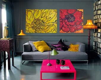 18 x 24 Poppy (canvas painting)