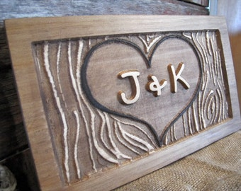 Personalized Couples initials letters Signs CARVED Custom Wooden Sign Heart Love Wedding Gift Valentines Anniversary Gift personalized sign