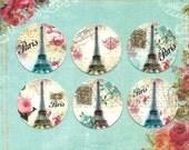 Stickers, Shabby French, Paris, Eiffel Tower Stickers