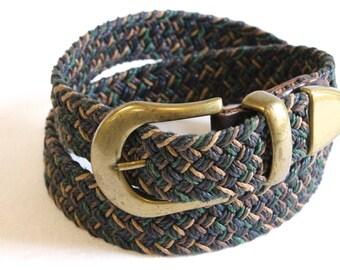 Vintage women's multicolor braided belt size S/M