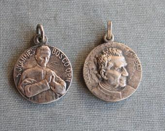 Antique French St. John Bosco Medal Pendant