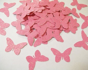 Glitter Butterflies--100 pieces--many colors to choose from