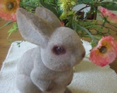 SALE Vintage Flocked Easter Bunny Rabbit Bank With Plug 18 Inch Was 14.00