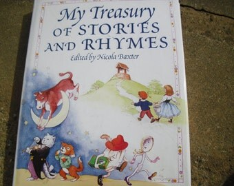 Vintage Book My Treasury of Stories and Rhymes