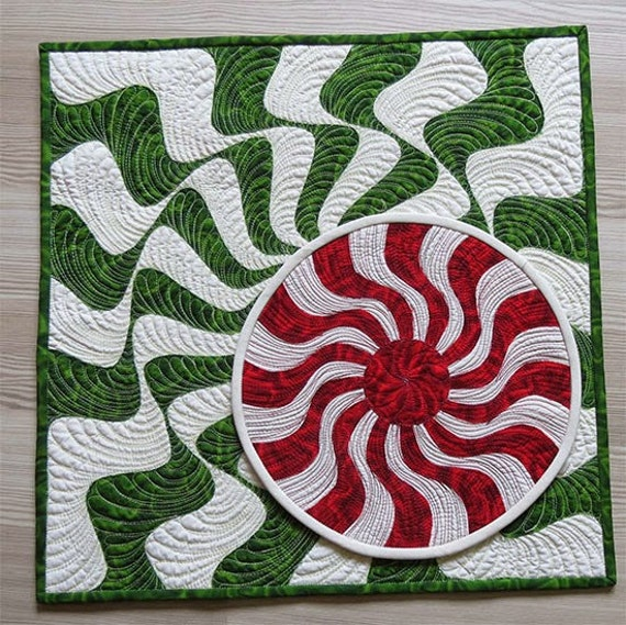 Items similar to small christmas quilts modern wall