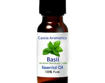 Basil Essential Oil Certified Pure Grade 100% Pure choose your size