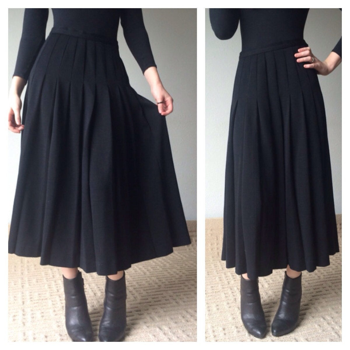 Black Ankle Length Skirt   Dress images