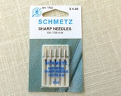 Microtex Sharp Sizes 60/8 or 70/10 Choose Schmetz Needles Thin For Fine Thread and Fine Work