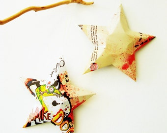Snake Dog, India Pale Ale, IPA,  Flying Dog Brewery, Beer Stars, Christmas Ornaments, Upcycled Aluminum Can, Recycled
