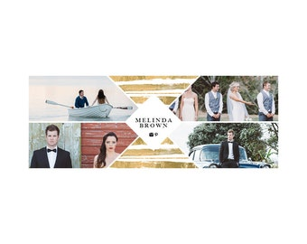 Melinda gold facebook cover - Instant download