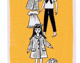 """PDF Vintage 4808 Pattern 9"""" Little Sister fits Skipper, Blythe, other dolls mail order newspaper"""