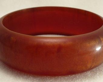 Vintage Red & Gold Lucite Bracelet