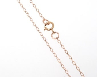 16 Inch Rose Gold Filled Cable Chain Necklace - Custom Lengths Available