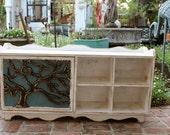 Cubby Bench - Storage - Organization - Mud Room - Entryway - Home Decor - Rustic - Tree Design - 23.75 Tall x 48 Wide x 11.25 Deep