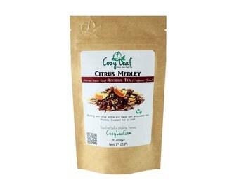 Citrus Medley Organic Artisan Loose Leaf Tea by Cozy Leaf