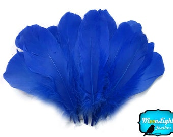Goose Feathers, 1/4 lb - ROYAL BLUE Goose Nagoire Wholesale Feathers (bulk) : 3758