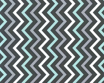 You Choose Changing Pad Cover or Crib Sheet- Ships in 3 Days- Sea Chevron