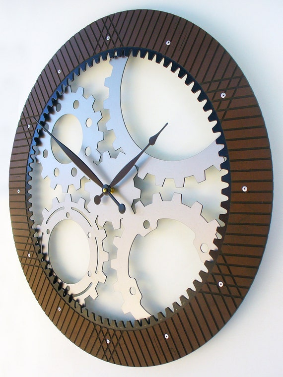 Drive Shaft Ii Modern Wall Clock Extra Large