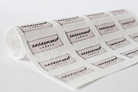 Uncut Custom Clothing Labels - personalized fabric labels, sew in / iron on tags
