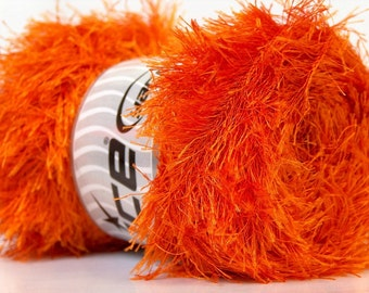 LG 100g Orange Long Eyelash Yarn 164Y 22711