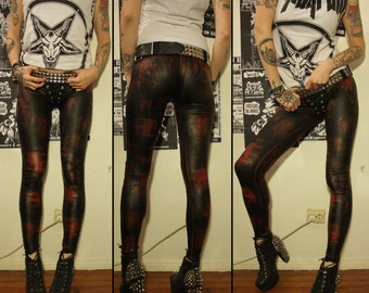 Kissin' Bombs stained fauxleather pants XS/S
