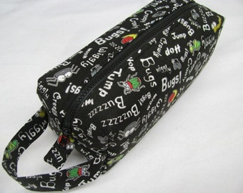 Bugs! Surprise embroidery inside Cosmetic Bag Makeup Bag LARGE