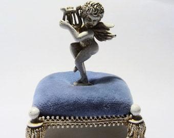 Vintage Florenza Cupid Pin Cushion Stick Pin Holder on Etsy