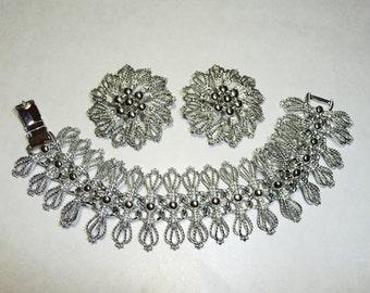 Fantastic Vintage Emmons Bracelet and Earrings Set on Etsy by Apurplepalm
