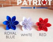 Patriot Theme - Royal Blue, Red, and White - 20 Origami Flowers