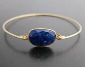 Blue Lapis Bracelet, Blue Lapis Jewelry, Blue Bracelet, Blue Jewelry, Lapis Lazuli Bracelet, Lapis Lazuli Jewelry, Bangle, Gemstone Bracelet