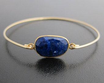 Blue Lapis Lazuli Bracelet, Lapis Lazuli Jewelry, Gemstone Bracelet, Lapis Bracelet, Lapis Jewelry, Blue Bracelet, Blue Bangle, Blue Jewelry