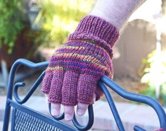 Merino wool men's fingerless gloves harvest colors gift for him Fathers Day Thanksgiving Christmas gift for men warm gloves