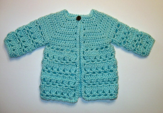 Top Down Crochet Baby Sweater Pattern Instant Download Boy