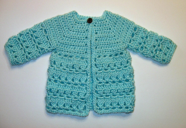 Top Down Crochet Baby Sweater Pattern - Sweater Tunic