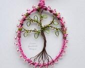 Cherry Blossom tree pendant, wire tree pendant, pink tree pendant, cherry blossom necklace MADE TO ORDER