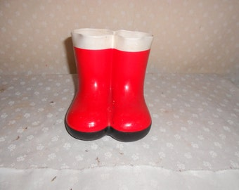 Galoshes Red Boot decor Pencil holder
